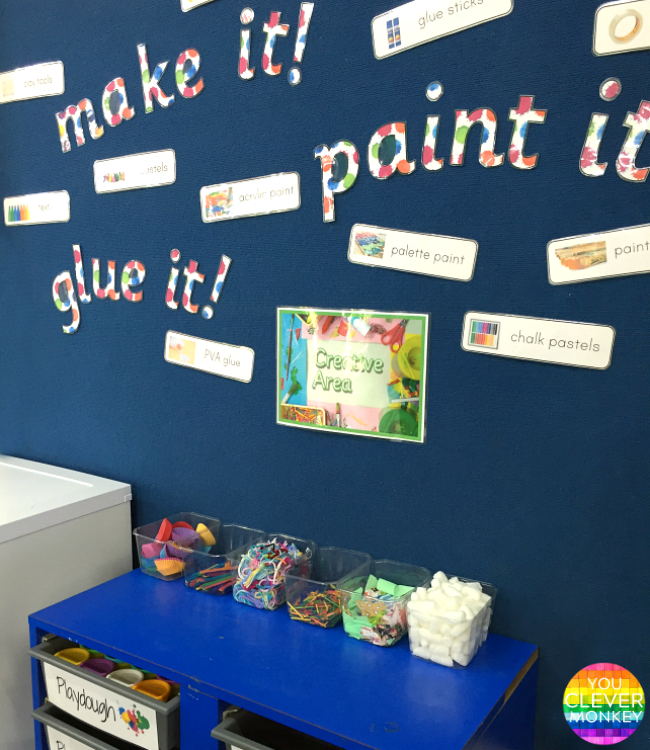 Organise Your Classroom Art Area - ready to print art material signs make organising your art room simple | you clever monkey