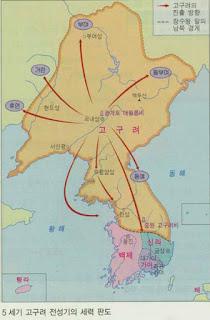 Korea histroy: Goguryeo map