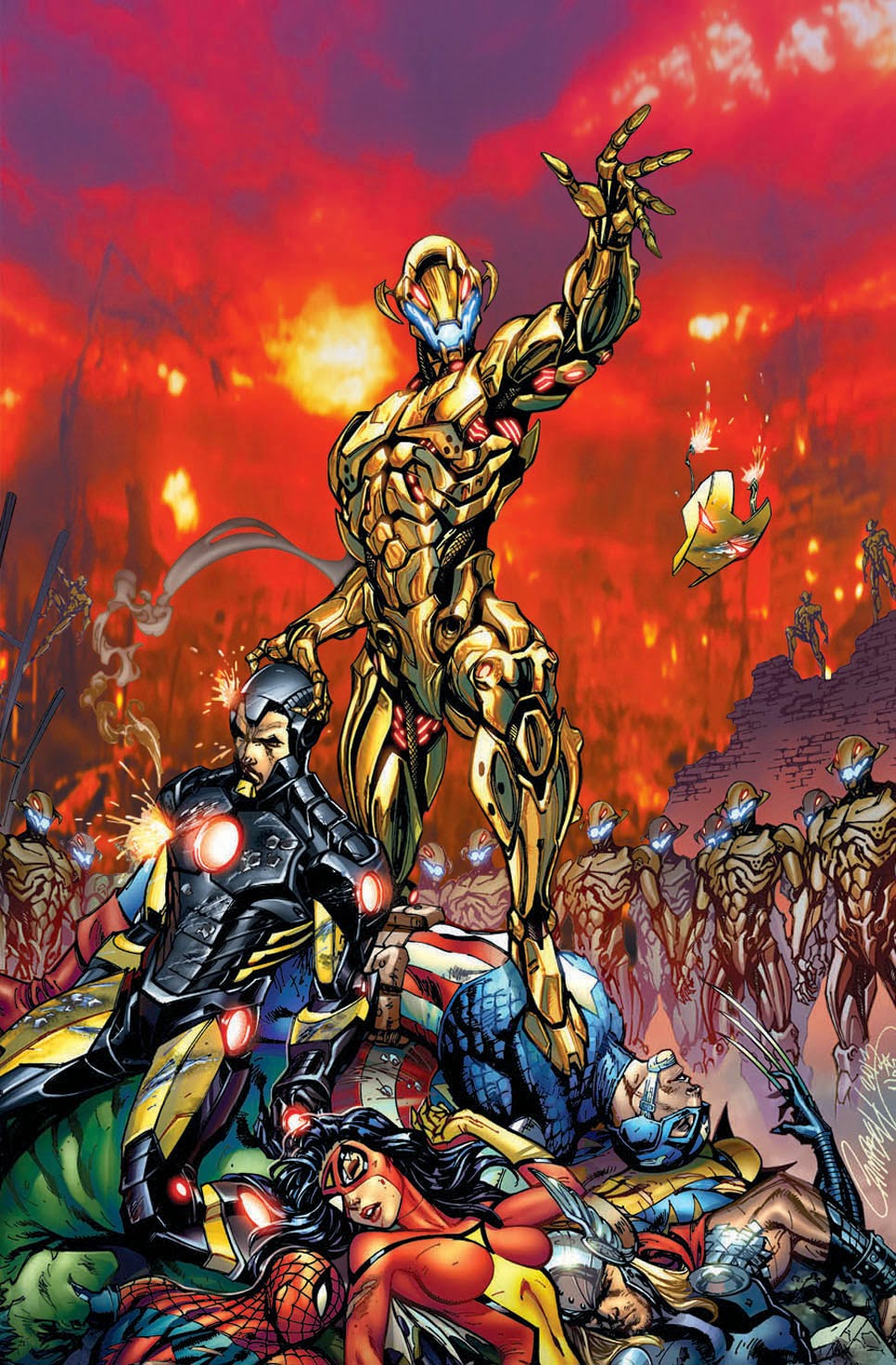 ultron vs avengers