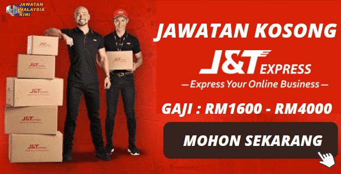 Minima Kelayakan SPM ~ Jawatan Kosong J&T Express 2020 / Gaji RM1600 - RM4000