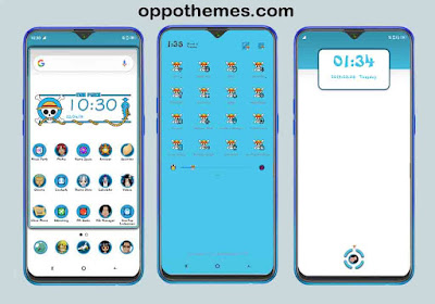 One Piece Theme For Oppo Android Smartphones