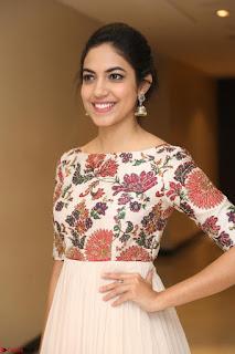 Ritu Varma smiling face Cream Anarkali dress at launch of OPPO New Selfie Camera F3 ~  Exclusive 080.JPG