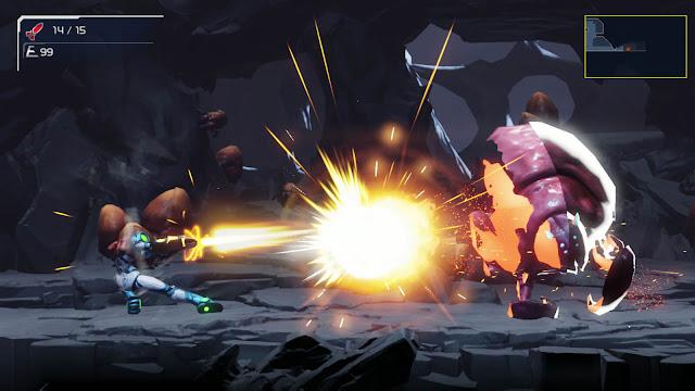 metroid dread 2021 action-adventure 2d side-scrolling game bounty hunter samus aran mercury steam nintendo switch omega blaster