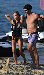 Kimberley Garner Candids Beach Side Water Sports in Bikini with bf August 2017