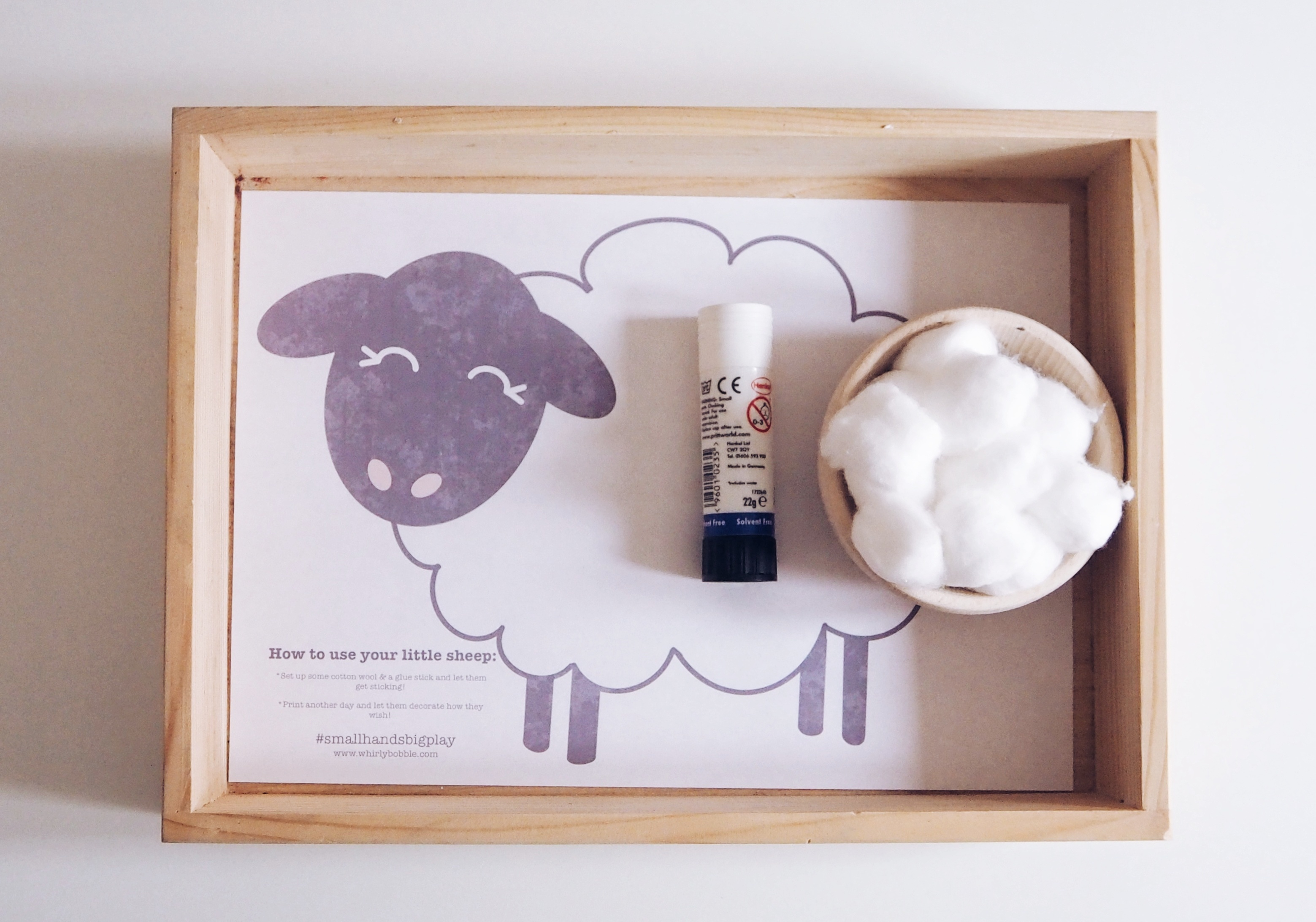Montessori Sheep sticking activity