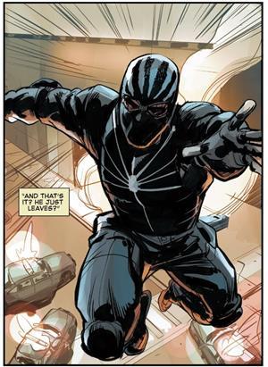 Una versión alternativa de Spiderman es el Capitán Peter Stacy, padre de Gwen Stacy
