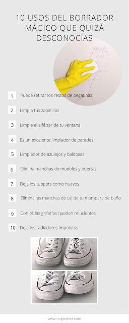 10 usos del borrador mágico que quizá desconoces