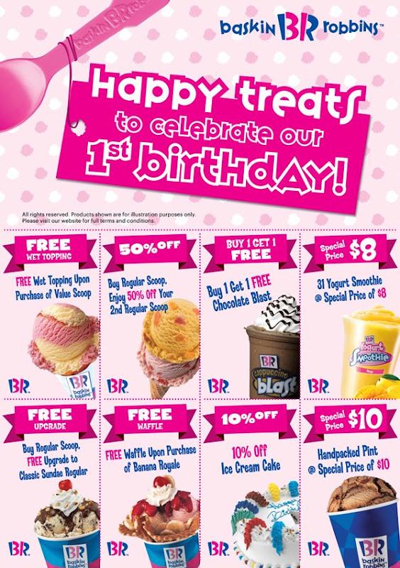 FoodieFC: Baskin-Robbins Singapore: 1st Anniversary Deals