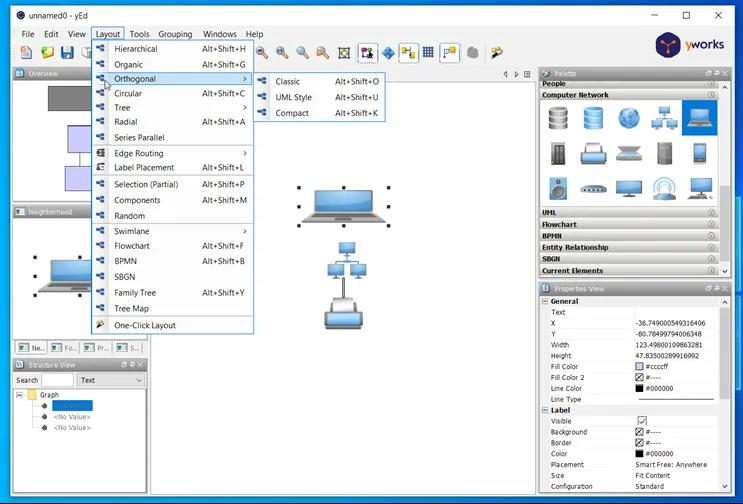yEd Graph Editor :  Ισχυρή εφαρμογή για  γρήγορη και αποτελεσματική δημιουργία διαγραμμάτων υψηλής ποιότητας
