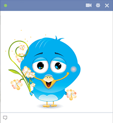 Flower Bird FB Sticker