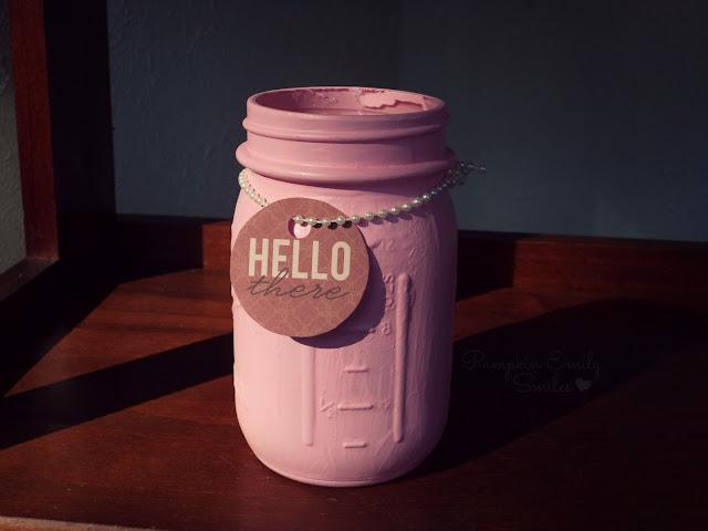 Pink Mason Candy/Gift Jar