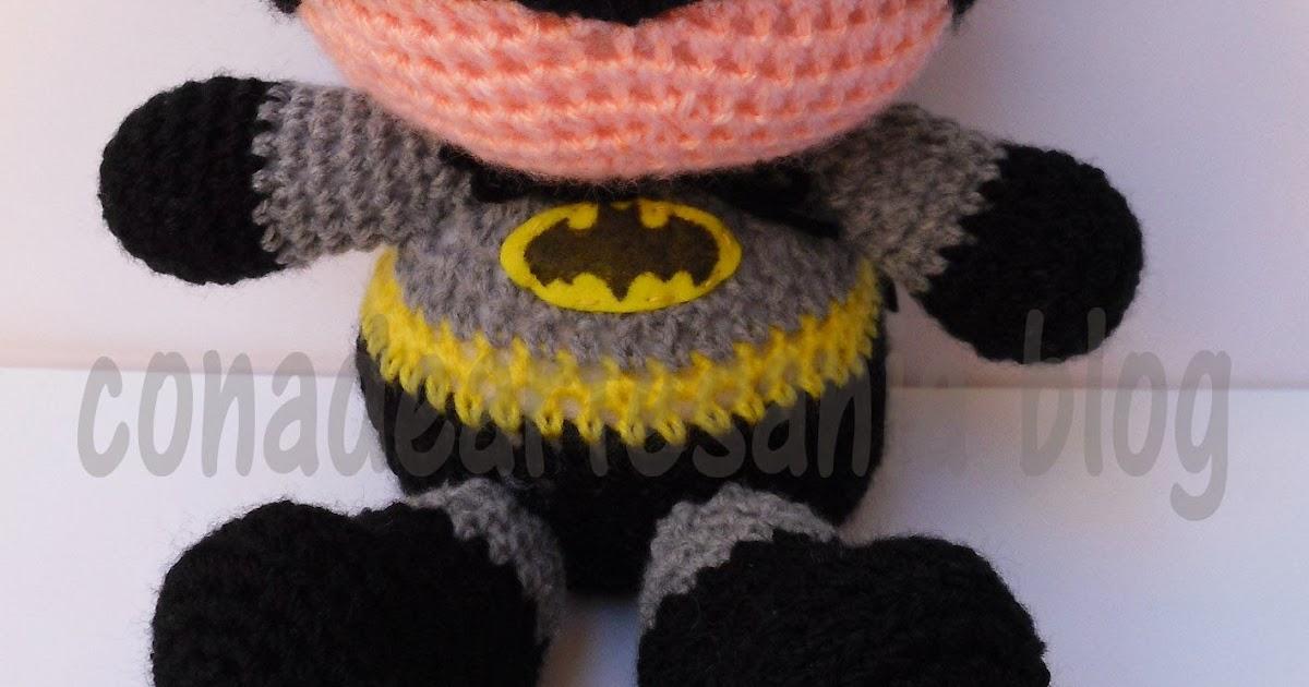PATRÓN AMIGURUMI de Batman en español, tutorial de crochet, manual ... | 630x1200
