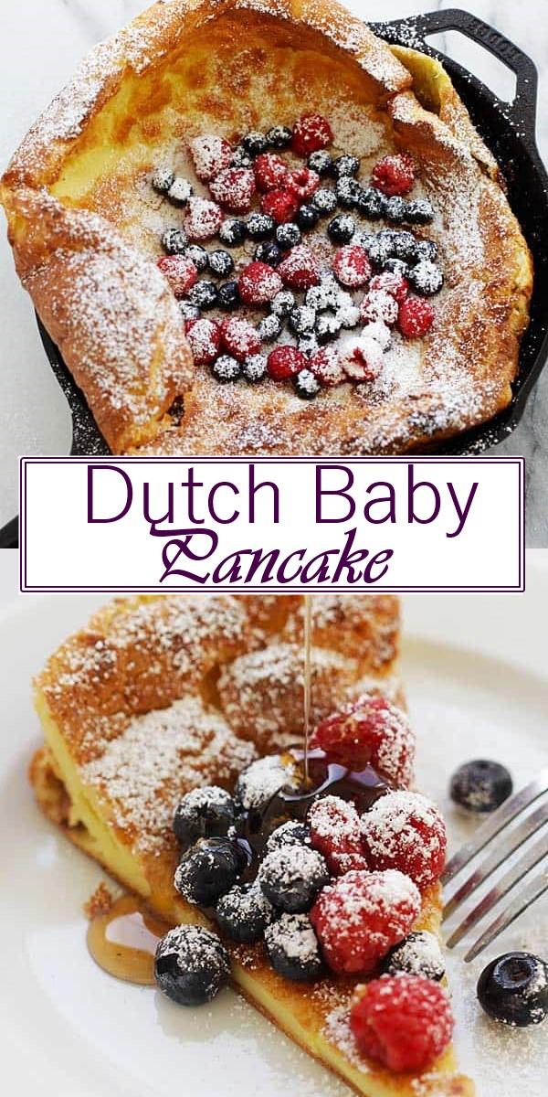 Dutch Baby Pancake Recipe #Breakfastideas