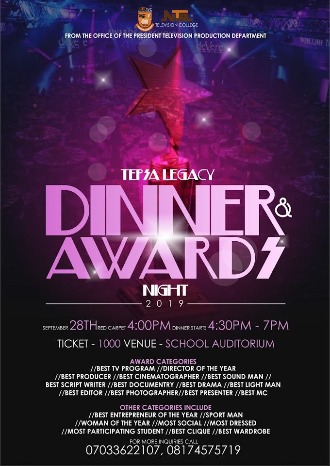 Election: NTA TELEVISION COLLEGE | TELEVISION PRODUCTION DINNER AND AWARD NIGHT 2019