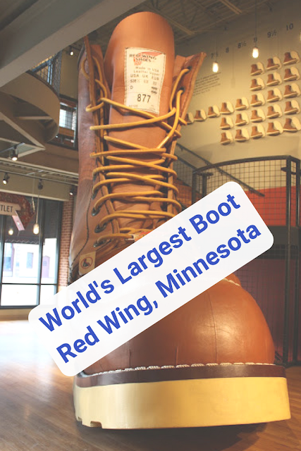 World's Largest Boot Red Wing, Minnesota at the Red Wing Shoe Store and Museum