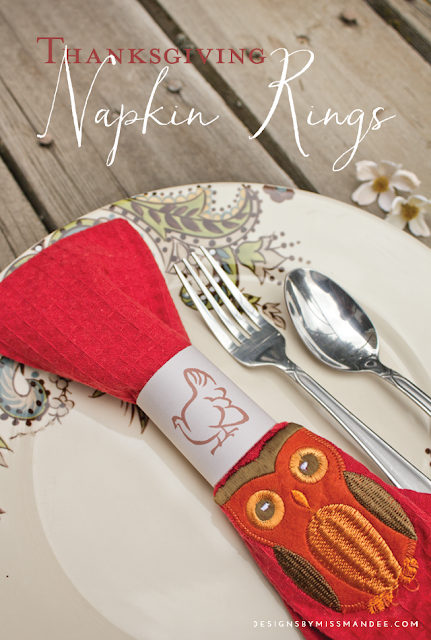 Printable Napkin Rings Thanksgiving