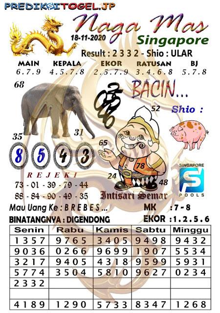 Syair SGP Nagamas Rabu 18 November 2020