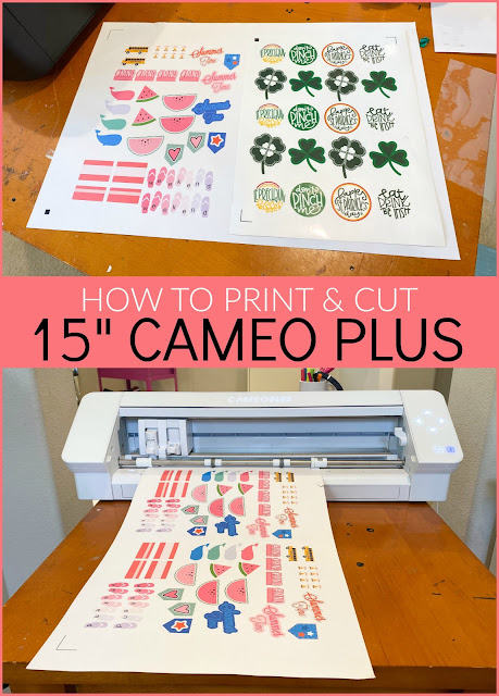 "15"" Silhouette CAMEO 4 Plus, 15"" Silhouette CAMEO Plus, Print and Cut, silhouette 101, silhouette america blog"