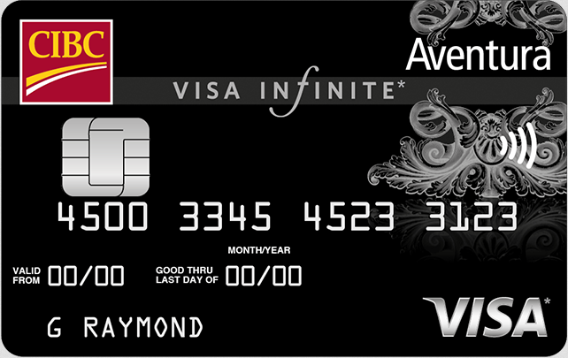 New welcome offer for the CIBC Aventura® Visa Infinite* Card - Earn up to 35,000 Aventura Points with first year annual fee rebate†
