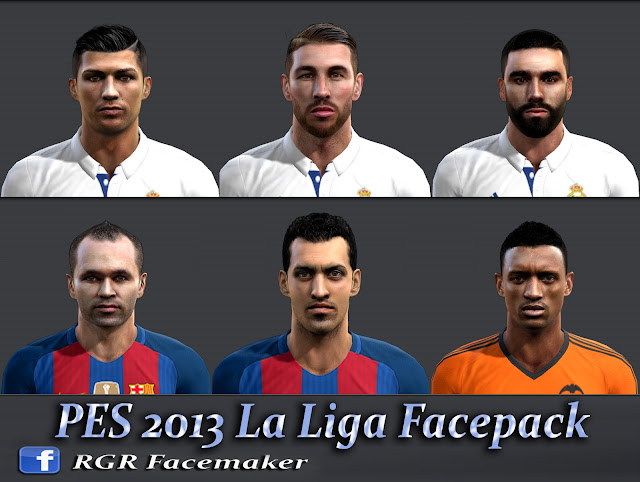 PES 2013 La Liga Facepack by Rgr DS