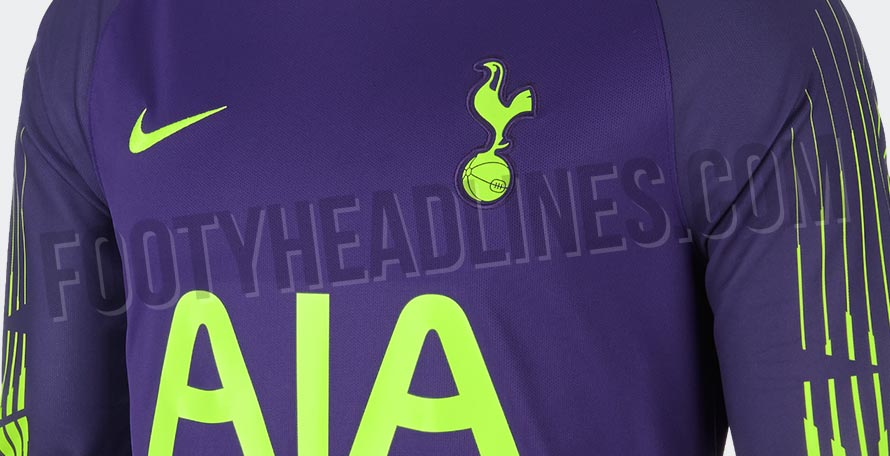 54aabb443 The Tottenham 18-19 goalkeeper uniform introduces a bold design based on  the Nike template we saw at the World Cup. Tottenham Hotspur Goalkeeper  Shirt 2018- ...