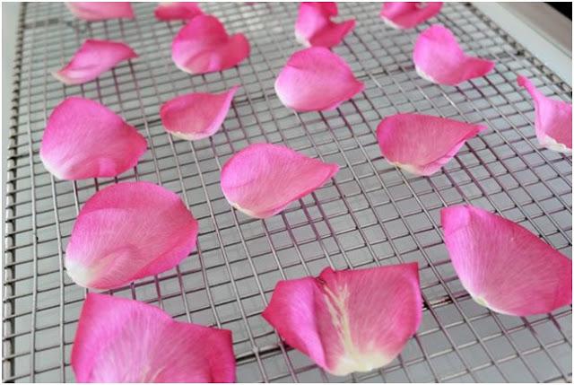 3. Açık Havada Gül Yapraklarını Kurutma