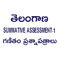 TELANGANA SUMMATIVE ASSESSMENT - 1 PAPERS MATHEMATICS