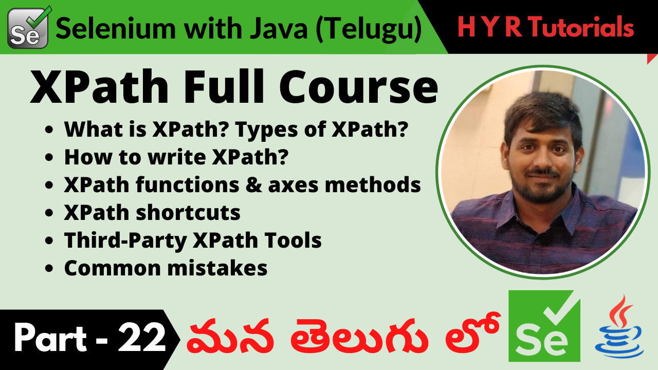 XPath Full Course in తెలుగు