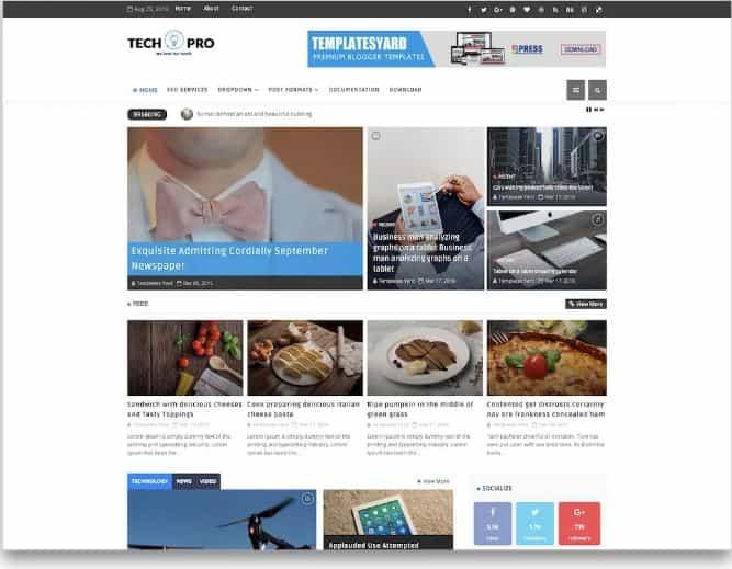 Tech Pro Blogger templates