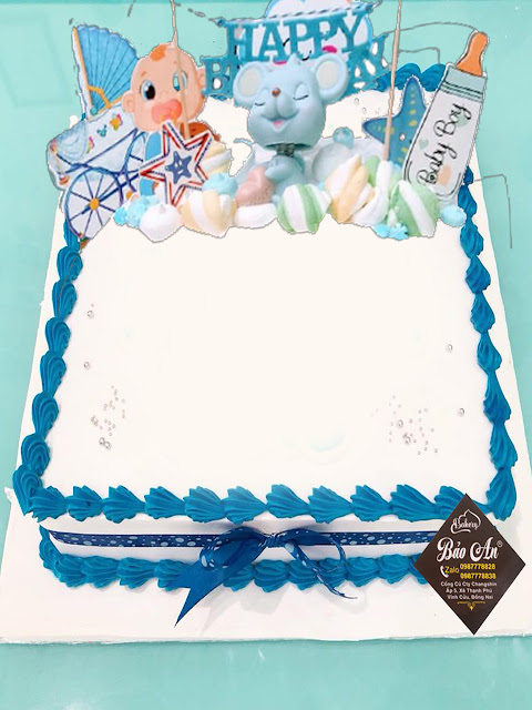 Mẫu Bánh vuông màu xanh dương