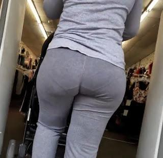 Señora caderona pantalones yoga calzon marcado