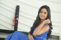 Divya Nandini stunning Beauty in blue Dress at Trendz Exhibition Launch ~  Celebrities Galleries 017.JPG