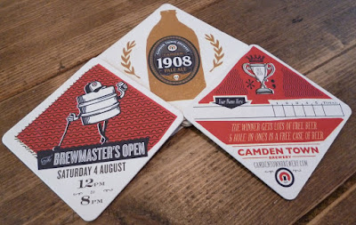 Scorecard from The Brewmaster's Open at the Camden Town Brewery in London