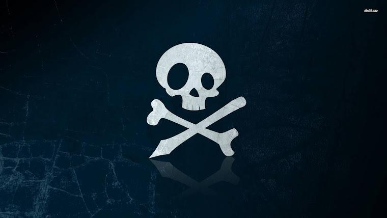 Skull and crossbones wallpaper 1280x800 Skull and crossbones wallpaper
