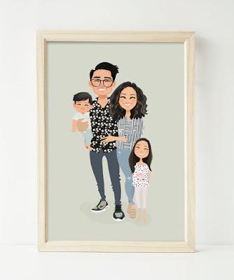 Custom Family potrait for Mother's day gift