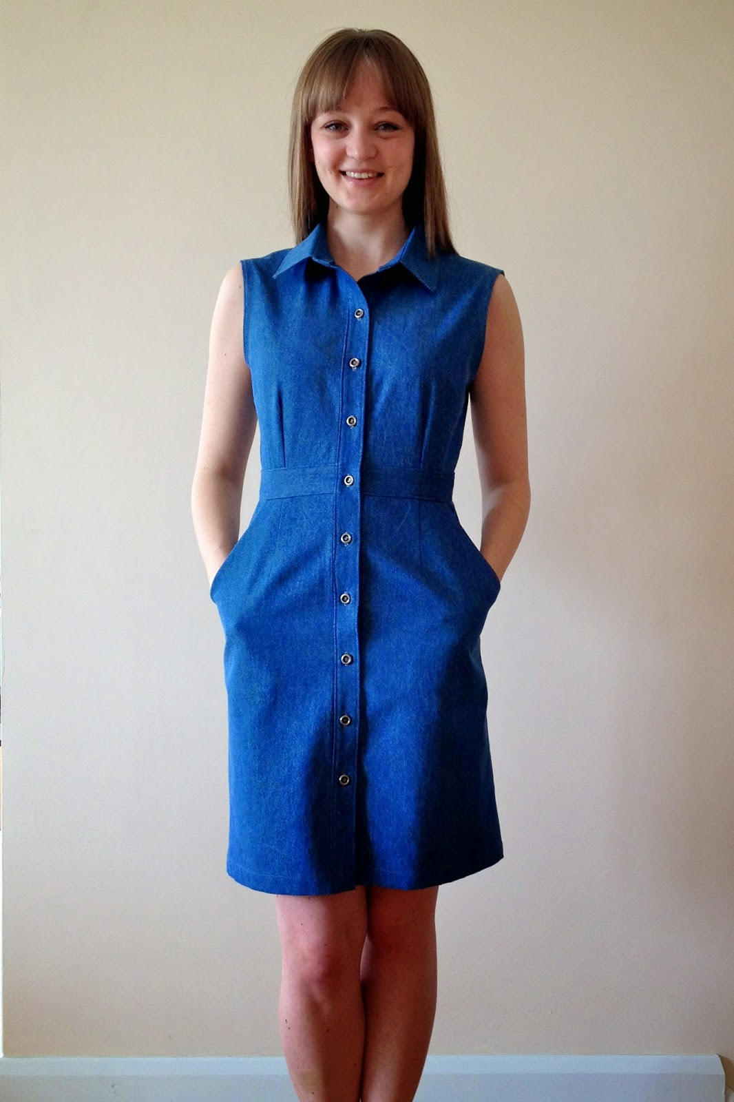 Diary of a Chain Stitcher : Denim McCalls 6696 Shirtdress