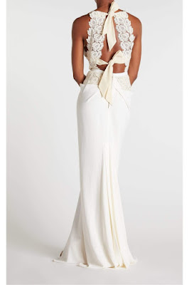 K'Mich Weddings - wedding planning - wedding dresses - white sheer top with two bows at the back - roland mouret