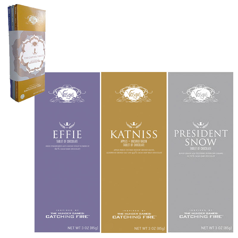 If its hip its here archives satiate hunger game fans with the hunger games katniss chocolate bar parfum includes apples pierce uncured hickory smoked bacon alderwood smoked sea salt 44 cacao milk chocolate ccuart Gallery