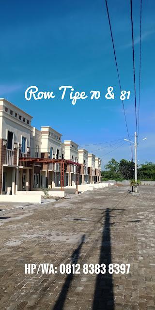 Row Jalan Rumah Murah Tipe 81 Di Taman Palem Mas Tanjung Morawa Medan Sumatera Utara