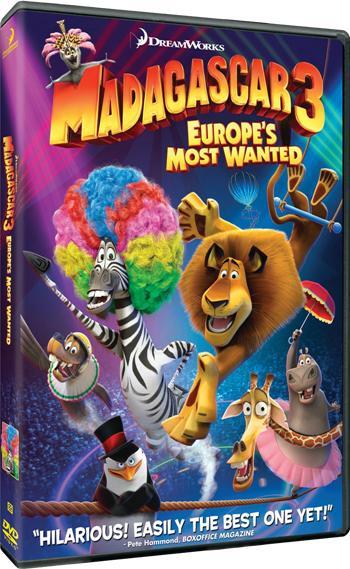 Madagascar 3 Europe's Most Wanted DVDR NTSC Español Latino Menú Full