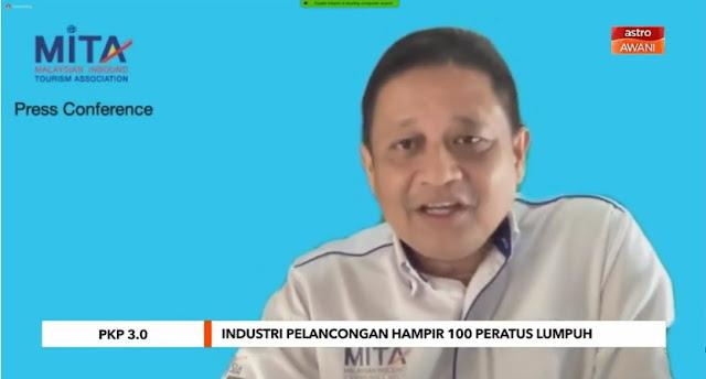 PKP 3.0 | Industri pelancongan hampir 100 peratus lumpuh