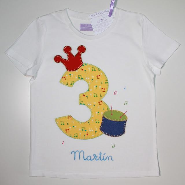 camiseta de cumpleaños 3 años
