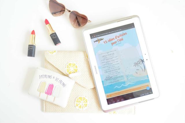 15 idées d'articles (beauté) pour bloguer l'été + printable