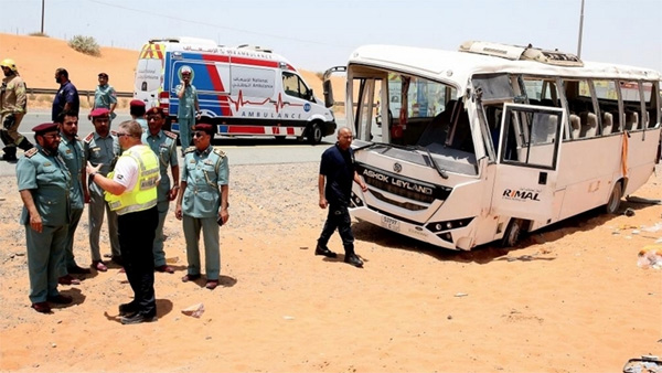 2 killed, 31 injured in UAE bus accident, Ras Al Khaimah, News, Dubai, Gulf, World, Accidental Death, Obituary, Hospital, Treatment, Injured.