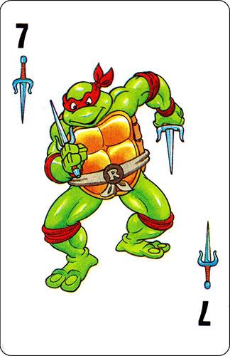 Baraja infantil Las Tortugas Ninja Fournier Carta Raphael 7