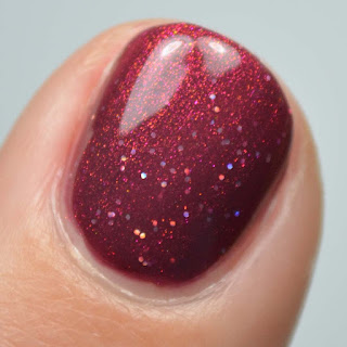 plum nail polish with aurora shimmer