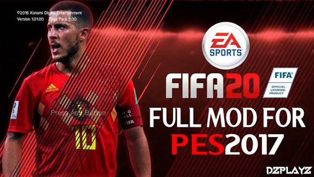 PES 2017 FIFA 20 Full Graphics Menu By DzPlayZ