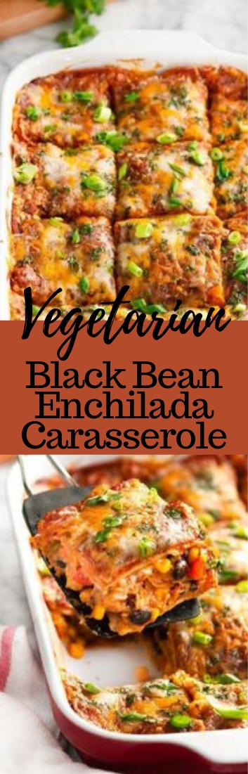 VEGETARIAN BLACK BEAN ENCHILADA CASSEROLE #vegetarian