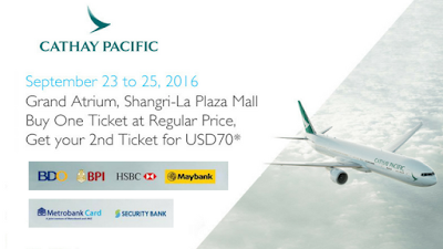 cathay pacific travel sale 2016: BDO, Metrobank, BPI, Security bank, HSBC, the shang