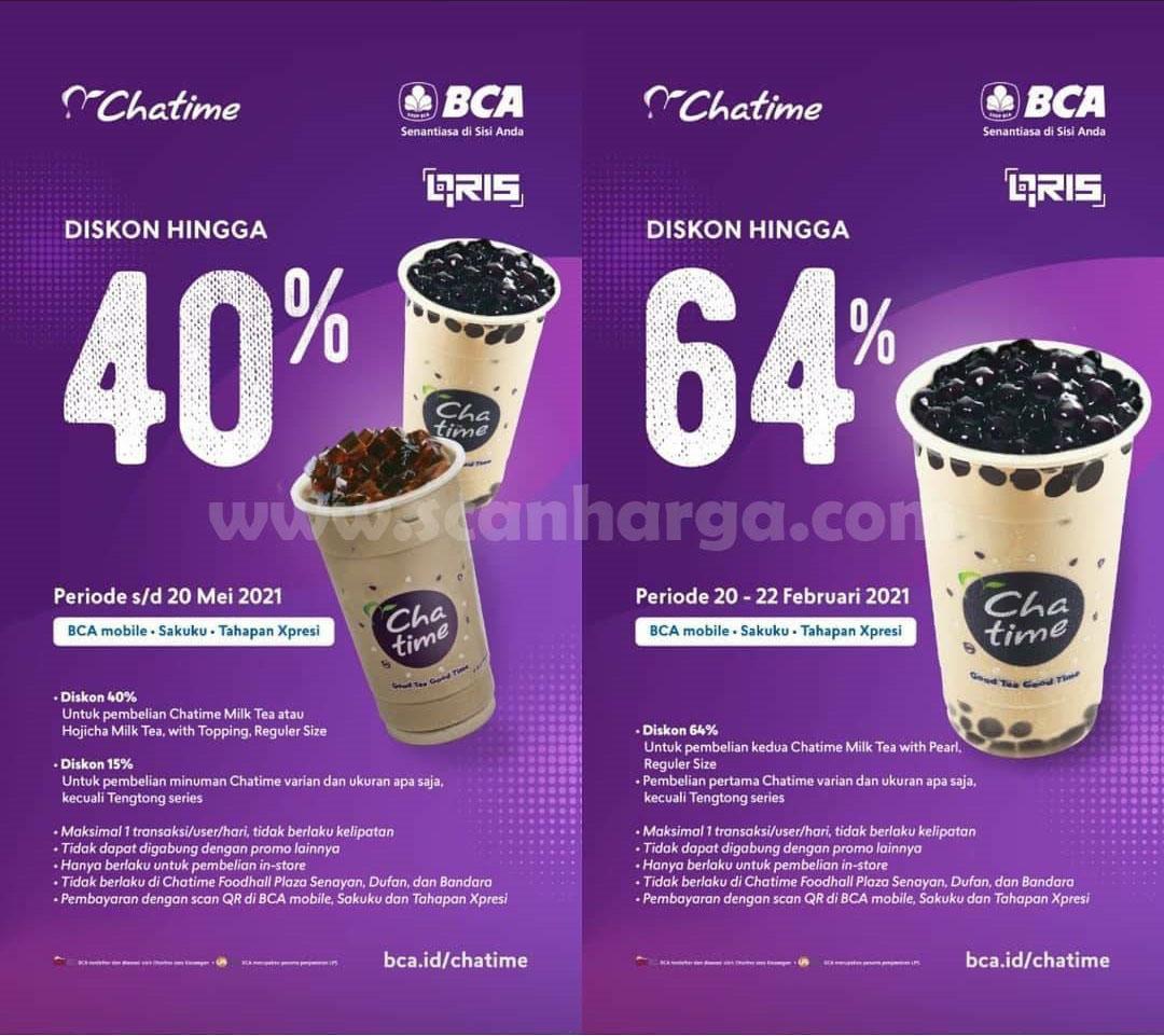 CHATIME PROMO HUT BCA 64 – DISKON 64% untuk pembelian Produk Kedua